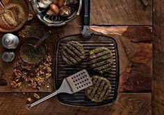 scott Jurek's Vegan burger made with lentils & mushrooms