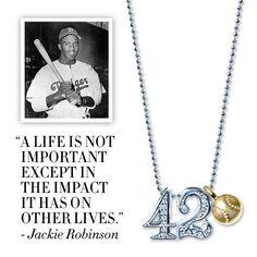 Today, we honor Jackie Robinson for changing baseball forever. Thank you, Jackie. :) #alexwoo #jackieronbinsonday #wisewords #jackie42 #littleicons #putaminionit #lovegold #futureheirlooms