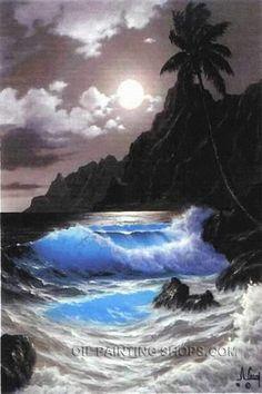 "Splendor Old Oil Paintings Reproduction Painting Seascape, Size: 24"" x 36"", $104. Url: http://www.oilpaintingshops.com/splendor-old-oil-paintings-reproduction-painting-seascape-2532.html"