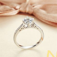 Wedding or engagement ring for women with by AdalizJewelries,