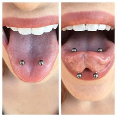 "1,293 Likes, 23 Comments - Taylor Bell (@tfhb) on Instagram: ""Two week old side set tongue piercings I did on the rad @edenslipsaway at the lovey…"""