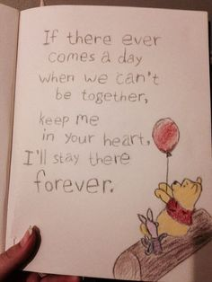 I am kinda proud of this one it's pretty simple. How do you not love Winnie … I am kinda proud of this one it's pretty simple. How do you not love Winnie The Pooh? I drew this like a year or so ago I think? (yeah it could be better I know. Bff Quotes, Best Friend Quotes, Disney Quotes, Cute Quotes, Disney Friendship Quotes, Craft Quotes, Qoutes, Love Drawing Images, Cute Drawings Of Love