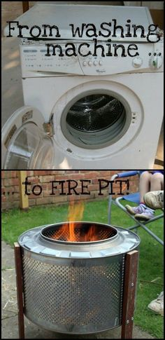 Looking for ideas on how to build a fire pit? This washing machine fire pit conversion might inspire you!  theownerbuilderne...  Could you use one of these in your yard?