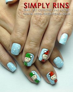 Nail Art Tutorial, Santa's Elves