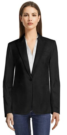 Green Single Breasted Blazer with Black Shiny Lapels Blazers For Women, Suits For Women, Party Jackets, Thing 1, Business Casual Dresses, Casual Blazer, Blazer Dress, Blazer Buttons, Double Breasted