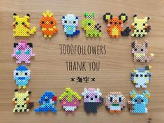 Melty Bead Patterns, Pearler Bead Patterns, Perler Patterns, Beading Patterns, Hama Beads Pokemon, Diy Perler Beads, Perler Bead Art, Pearl Beads Pattern, Pixel Beads