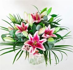 Our Unique All Lily Bouquet features an abundance of scented oriental Lilies in a hand tied arrangement ready for any vase! #Flowers #Lilies