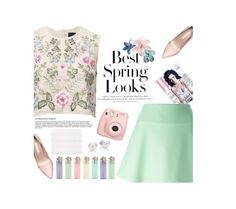 """""""spring"""" by just-charlotte-xo ❤ liked on Polyvore featuring H&M, RED Valentino, Mikimoto, Needle & Thread and Olivier Desforges"""