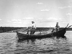 Nuotanvetoa Viitasaaren Keitelepohjassa vuonna 1958. Kuva: Keski-Suomen museo/Jouko Maukonen
