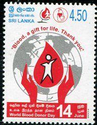 Francobolli - Donazione e trasfusione di sangue - Blood donation and transfusion Sri Lanka 2004