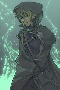 so...i'm pretty sure this is cloud strife from final fantasy. but he looks like Ii from my book. So it works.