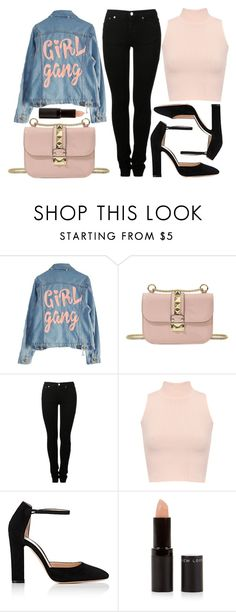 """street style"" by sisaez ❤ liked on Polyvore featuring High Heels Suicide, Valentino, MM6 Maison Margiela, WearAll, Gianvito Rossi and New Look"