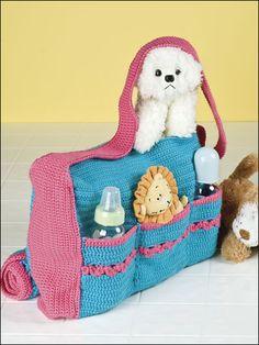 Diaper bag - free crochet pattern