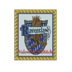 Harry Potter cross stitch pattern, counted cross stitch pattern, Ravenclaw,unique cross stitch patterns
