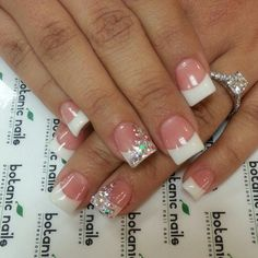 Pink and whites with rhinestones