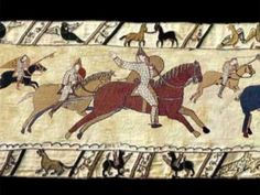 The Animated Bayeux Tapestry was created as a student project while at Goldsmiths College. Just as the historic original embroidary does, the animation depic. Art Français, Ap Art, Medieval World, Medieval Art, British History, Art History, Animation, Bayeux Tapestry, Damien Hirst