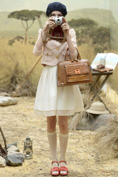Orla Kiely Spring 2014 is basically Suzy from Moonrise Kingdom all grown up!