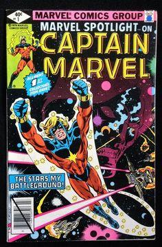 #Marvel spotlight  #1 on captain #Marvel   1980  news stand variant from $0.99
