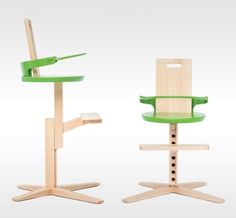 DESIGN FOR KIDS - furniture - high chairs - froc high chair for kidz  Awarded as the most innovative product at Ambient, Slovania's biggest furniture fair. The high-chair was certified for conformity and matches the demands for the SIST EN 14988-1 and SIST EN 14988-2 standards.
