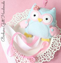 Barbara Handmade: Owl hair clip holder