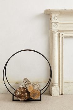 Forged Hoop Log Holder #anthropologie