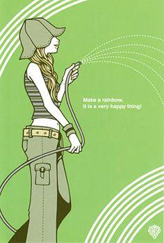 ワカマツカオリ ポストカード No.027 - FEWMANY ONLINE SHOP Illustrator, Online Shopping, Rainbow, Draw, How To Make, Rain Bow, Rainbows, Net Shopping, To Draw