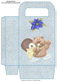 Christmas Beaver Gift Bag on Craftsuprint - View Now!