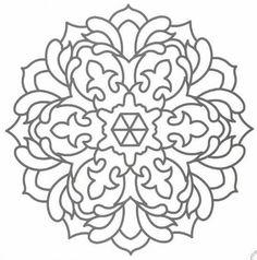 Abstract Mandala Pattern Coloring Pages