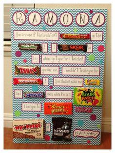 48 Ideas Birthday Gifts For Boss Diy Teacher Appreciation - Diy Birthday Cards Candy Birthday Cards, Boss Birthday Gift, Teacher Birthday, Birthday Gifts For Best Friend, Candy Cards, Candy Gifts, Diy Birthday, Birthday Presents, Birthday Nails