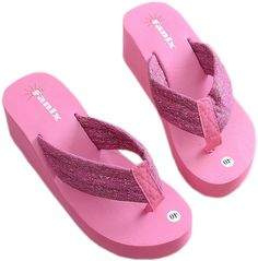 Women Sexy Fashion Sequins Comfortable Thongs Casual Wedges Sandals Beach Flip Flops Slippers