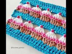 Criações em Crochê: PONTO CUPCAKE   Luciana Ponzo - YouTube