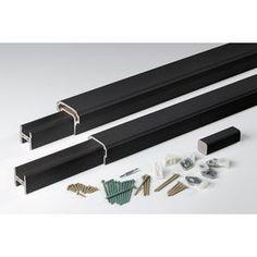 Azek Premier Rail Black Composite Deck Railing Kit (Assembled: 10-Ft X