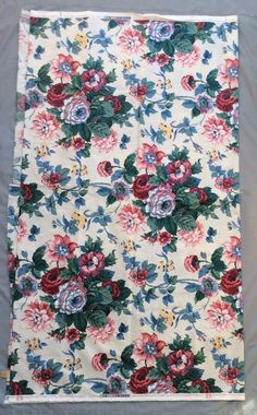 Vintage Waverly Peace Cotton Chintz Fabric Roses Collection Schumacher 3 Yds ++