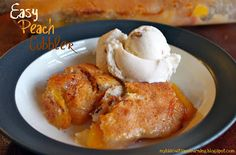 My Biscuits are Burning: Easy Peach Cobbler