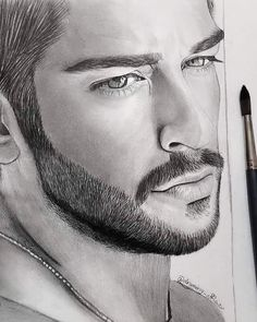 Realistic Pencil Drawings, Pencil Art Drawings, Art Drawings Sketches, Drawing Art, Portrait Sketches, Pencil Portrait, Portrait Art, Girl Face Drawing, Face Art