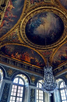 Ceiling arch design, Versailles  ♥ ♥ www.paintingyouwithwords.com