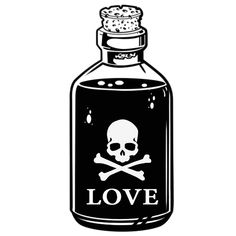 Poision with skull and love Material de imagem PNG e vetor Tattoo Sketches, Tattoo Drawings, Art Sketches, Mini Tattoos, Small Tattoos, Dessin Old School, Traditional Tattoo Old School, Traditional Tattoo Art, Bottle Drawing