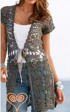 Crochet vest~Visit www.lanyardelegance.com for beautiful Crystal Beaded Lanyards and Eyeglass Holders for women.