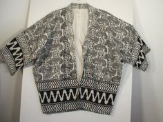 Unusual kimono style jacket Keith Haring op art by BrightCloset love this with the pink shorts I just pinned $57