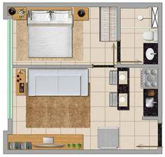 Casa com um quarto…