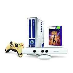 Video Game Console Xbox 360 Slim Star Wars / 320GB   Jogo Star Wars    Kinect - Branco. - R$2.048,85