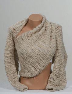 Crochet Cowl Bolero wrap scarf