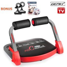 Genki ABS Machine Pro Core Exercise AB Abdominal Workout Fitness Gym Equipment with Guide DVD, bands, poster, 9 IN 3 Level Adjustable Resistance for Home Exercise(Sit-ups, push-ups) Abdominal Exercises, Abdominal Muscles, Abdominal Workout, Tummy Exercises, Plank Workout, Workout Fitness, Fitness Abs, Barre Workout, Fat Workout