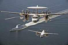 (Oct. 17, 2016) An E-2D Hawkeye and a C-2A Greyhound over USS Zumwalt (DDG 1000) as the ship travels to its new home port of San Diego, California. U.S. Navy photo by Erik Hildebrandt