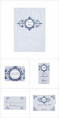 Blue Vintage Elegance Wedding