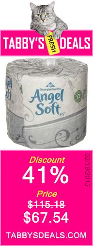 Georgia-Pacific Angel Soft ps 16880 White 2-Ply Premium Embossed Bathroom Tissue, 4.05 Length x 4.5 Width (Case of 80 Rolls, 450 Sheets Per Roll) $67.54