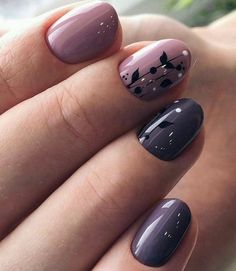 Unique purple nail art for spring Cute Spring Nails, Spring Nail Art, Nail Designs Spring, Gel Nail Designs, Nails Design, Simple Gel Nails, Short Gel Nails, Easy Nails, Purple Nail