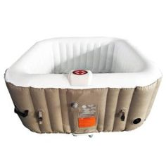 TheraPureSpa 2-Person Oval Portable Inflatable Hot Tub Spa-EST5870 - The Home Depot Hot Tub Cover, Tub Cleaner, Deep Relaxation, Fit 4, Persona, Cool Things To Buy, Pumps, Hot Tubs, Backyard Patio