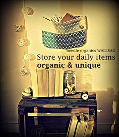 organic home decor for your wall. Decorate and organize with the needle WALLBAG. Handmade, unique and eco friendly. Useful as storage space, gift or colourful spot in your home. Twig Tree, Old Cds, Ornament Hooks, Tree Shapes, Paper Stars, Glass Containers, Season Colors, Storage Spaces, Tea Lights