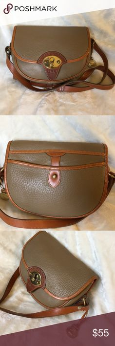 Dooney & Bourke Cavalry taupe/tan leather bag Lightly used Dooney & Bourke Pebbled leather taupe/tan crossbody Cavalry bag, very clean inside out, excellent condition, smoke free Dooney & Bourke Bags Crossbody Bags